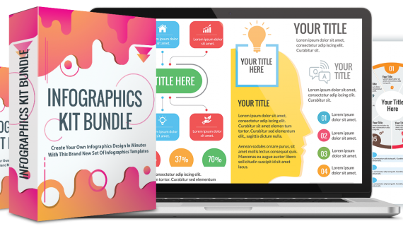 Infographics Kit Bundle – Create Engaging & Killer Infographics With This 500+ DFY Infographics Design & Elements That You Can Use To Generate Traffic & Sales